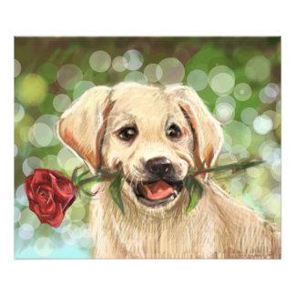 Romantic puppy photo print