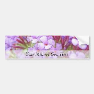 Romantic Purple Butterfly Bush Flowers Bumper Stickers
