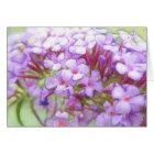 Romantic Purple Butterfly Bush Flowers card
