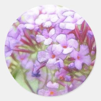 Romantic Purple Butterfly Bush Flowers Classic Round Sticker