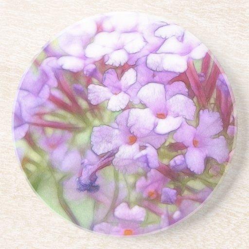 Romantic Purple Butterfly Bush Flowers Drink Coaster