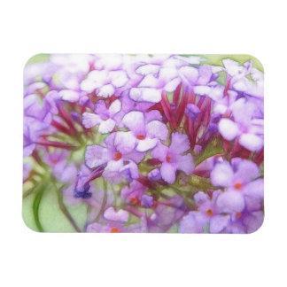 Romantic Purple Butterfly Bush Flowers Rectangular Photo Magnet