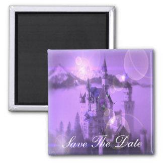 Romantic purple castle gothic wedding magnet