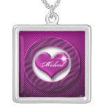 Romantic purple heart love valentine gift custom jewelry