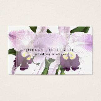 Romantic Purple Orchids Love Floral Business Card