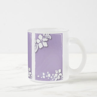Romantic Purple Passion Flower Wedding Favor Frosted Glass Coffee Mug