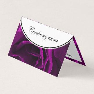 Romantic purple roses floral photo business card