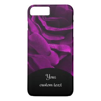 Romantic purple roses floral photo iPhone 7 plus case