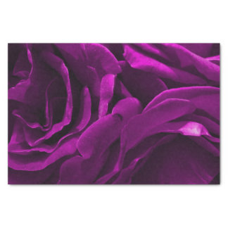 Romantic purple roses floral photo tissue paper