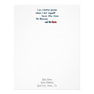 Romantic Quote - I am a better person when I let … Letterhead