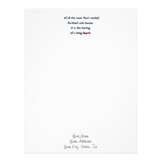 Romantic Quote - Of all the music that reached f … Letterhead