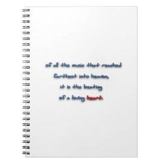 Romantic Quote - Of all the music that reached f … Notebook
