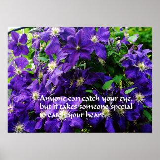 Romantic quote print