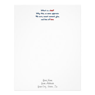 Romantic Quote - What is a kiss? Why this, as so … Letterhead