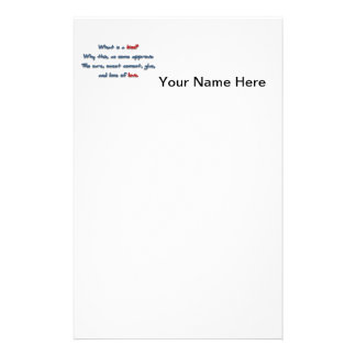 Romantic Quote - What is a kiss? Why this, as so … Stationery