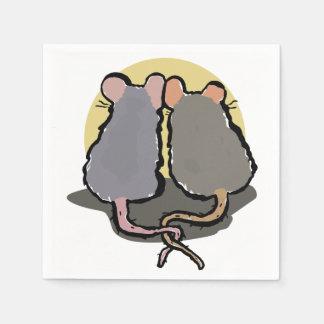 romantic rats standard cocktail napkin