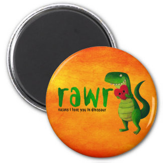 Romantic RAWR T-rex Dinosaur Magnet