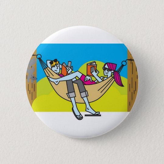 Romantic Reading In The Summertime Pinback Button