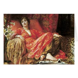Romantic Reclining Lady Card