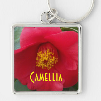 Romantic Red Camellia Keychain