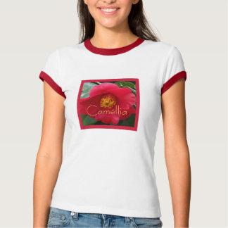 Romantic Red Camellia T-Shirt
