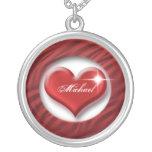 Romantic red heart love gift pendant