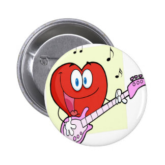 Romantic Red Heart Man Pinback Button