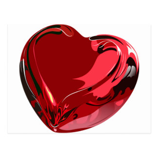 Romantic Red Heart Postcard