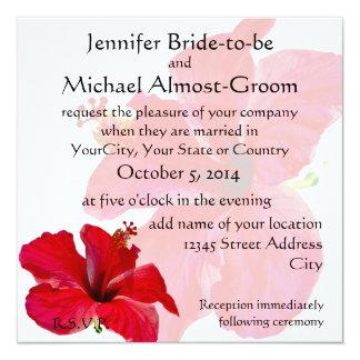 Romantic Red Hibiscus Card