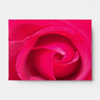 Romantic Red Pink Rose Envelope