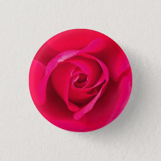 Romantic Red Pink Rose v2 Pinback Button