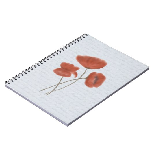Romantic Red Poppies Notebook