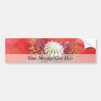 Romantic Red Poppy Flower Bumper Sticker