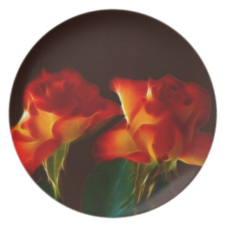 Romantic red rose and its meaning dinner plates