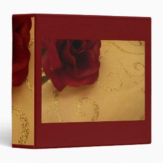 Romantic Red Rose Binder