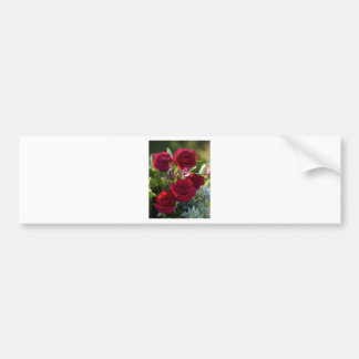 Romantic Red Rose Bouquet Bumper Sticker
