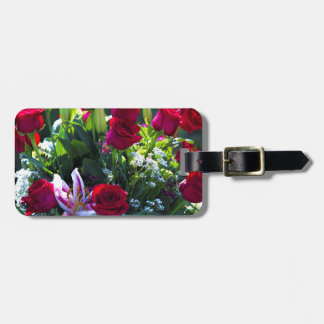 Romantic Red Rose Bouquet Luggage Tag