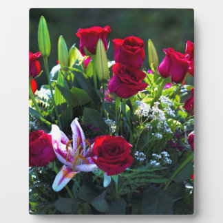 Romantic Red Rose Bouquet Plaque