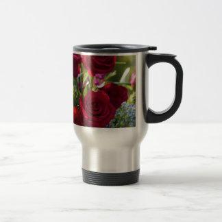 Romantic Red Rose Bouquet Travel Mug