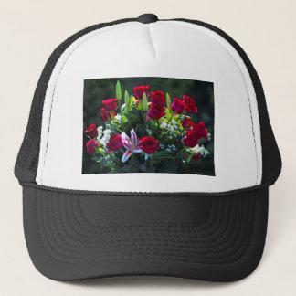 Romantic Red Rose Bouquet Trucker Hat