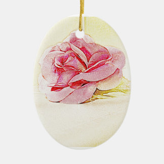 Romantic Red Rose Ornament