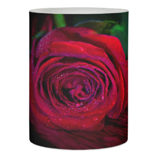Romantic Red Rose Photo Candle