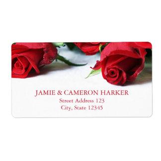 Romantic Red Roses Address Label