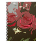 Romantic Red Roses Digital Art Spiral Notebook