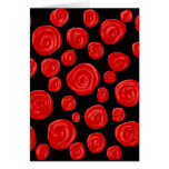 Romantic red roses on black background. greeting cards