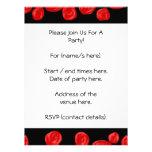Romantic red roses on black background. Custom Custom Announcement