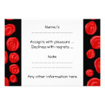 Romantic red roses on black background. Custom Personalized Announcements