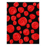 Romantic red roses on black background. custom invitations