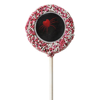 Romantic Red Spider Chocolate Dipped Oreo Pop