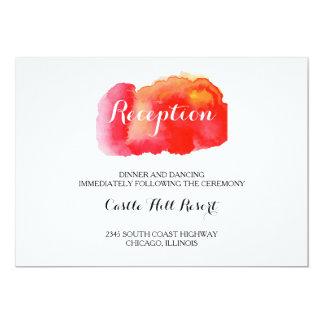 Romantic Red Watercolor Wedding Reception Card